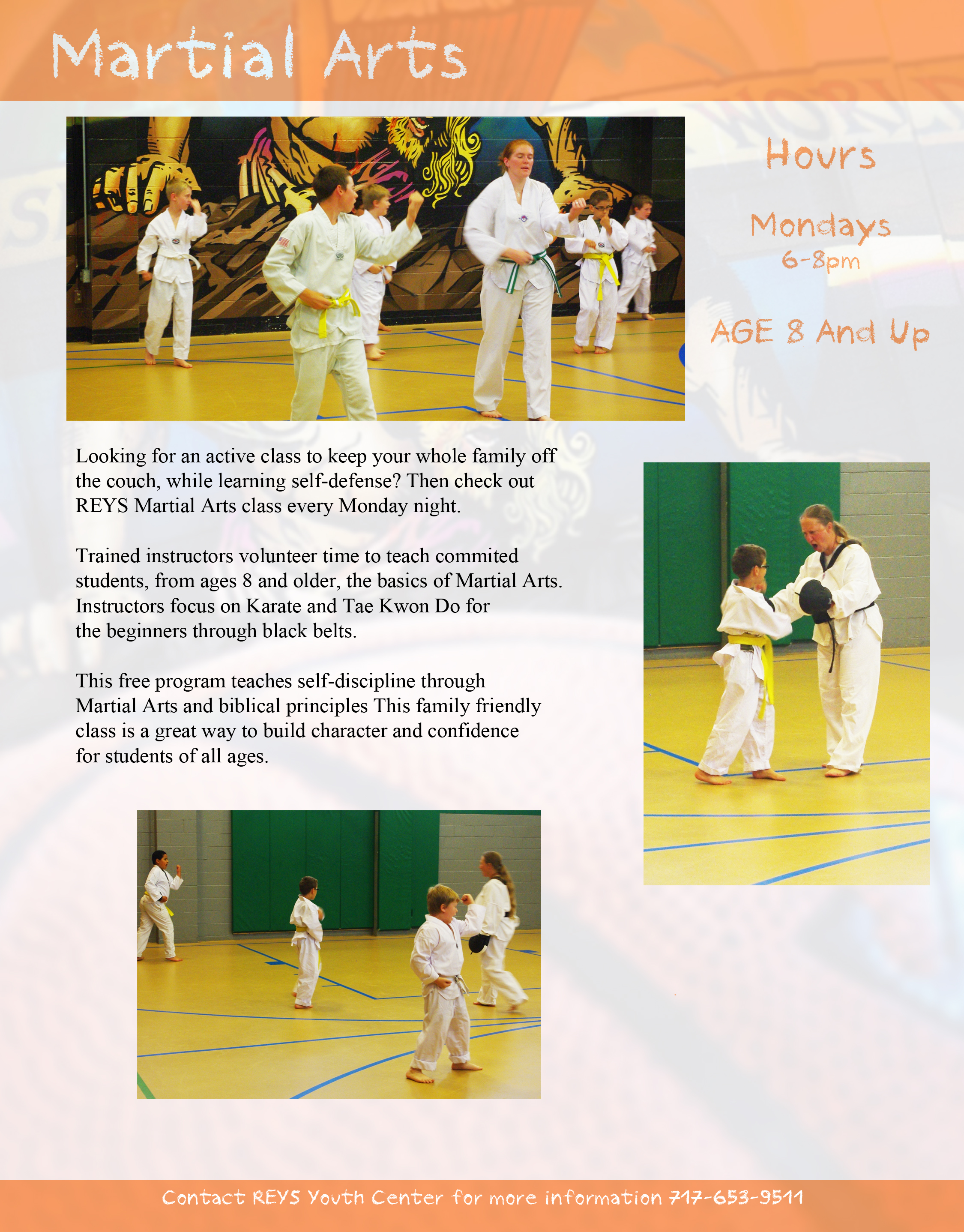 Martial Arts One Page